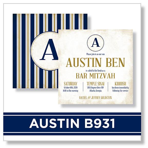 Austin B931 Bar Mitzvah Invitation