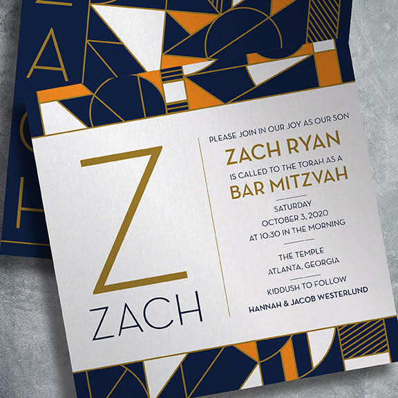 our newest bar and bat mitzvah invitations