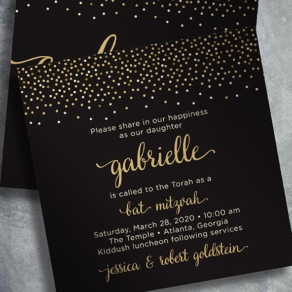 Bat mitzvah invitations gabrielle g146 stopboris Choice Image