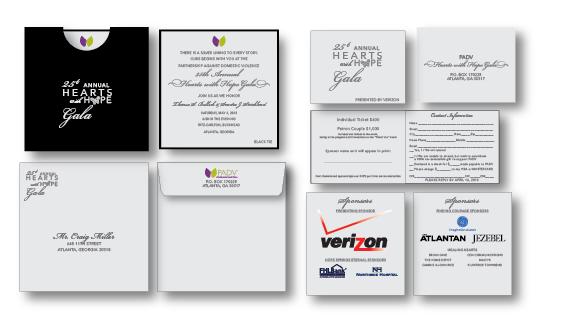 gala invitation portfolio