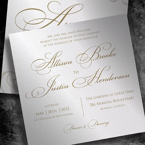 EventPrints offers designer crafted wedding invitations