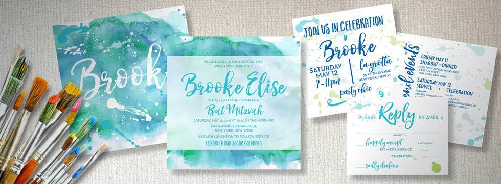 EventPrints Designer Crafted Bar Mitzvah Bat Mitzvah and Wedding