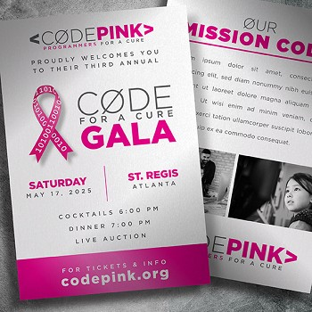 Cure  Cancer Gala Invitation